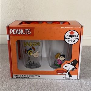 Peanuts Snoopy Glass and Ice Cube Tray